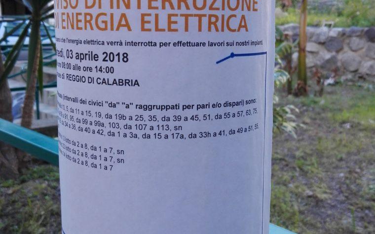 Ad Archi verrà interrotta l'energia elettrica per lavori